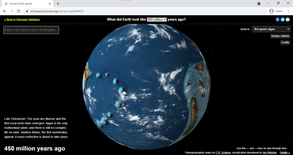 Ancient Earth Globe  - Time-wasting websites